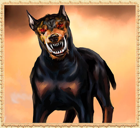 Взбесившийся матёрый пес-демон
