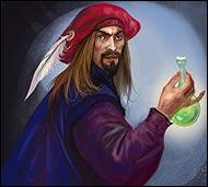 Создатель первой алхимической лаборатории, кроме трансмутации, оккультных наук, занимается созданием боевых эликсиров для воинов расы людей.