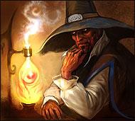 Маг и чародей, великий алхимик и изобретатель самых популярных боевых эликсиров для воинов-магмаров. Большой хитрец, пройдоха и корыстолюбец.