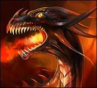 Великий черный дракон, исполинский крылатый змей, созданный Шеарой из энергии расы магмаров.  Олицетворяет собой силу и идеологию магмаров. Отличается крутым нравом и внешностью, приводящей в трепет.