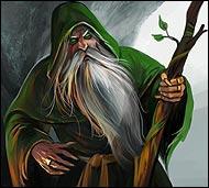 Мудрец и маг, он одновременно хозяин и слуга природы. Он настолько близок с природой,  что силу черпает от нее и духовные заклятья его содержат в своей основе естество природы.