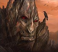Гигантская скала, угрюмая и молчаливая, в высшей степени мудра и рассудительна.  Она пережила многие эпохи становления мира Фэо, видала войны богов и уничтожение целых рас.