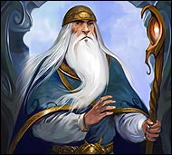 Великий колдун расы людей, профессор светлой и темной магии, искусный мастер изготовления всевозможных свитков. Его сила в посохе, его могущество в разуме.