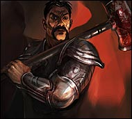 Почетный рыцарь Арены, снискавший славу и получивший большой авторитет у молодых воинов за огромную силу воли, стойкость и умение драться в команде.