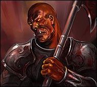 Грозный и решительный рыцарь Арены, прославившийся тем, что ни разу не потерпел поражения, он всегда готов помочь начинающим гладиаторам советом и указом.