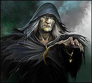 Страшный и злой черный маг, умерший и вновь воскресший, так как даже мир мертвых не принял его, питается энергией живых существ,  имеет способность воскрешать мертвых.