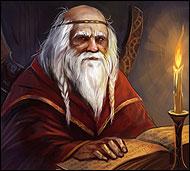 Старожил О'Дельвайса, советник старейшины и хранитель священных писаний и заветов, он достиг ученьем,  размышлением и опытностью до сознания высших житейских и духовных истин.