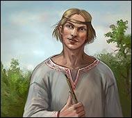 Добродушный деревенский парень, ценитель природы, фольклорной музыки и всего прекрасного вообще.  Он целыми днями пасет скот и насвистывает на дудочке мелодии собственного сочинения.