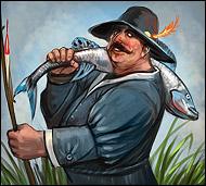 Мастер своего дела, настоящий профессионал, похоже, он знает язык рыб и умеет заманивать их в свои сети,  так как улов его всегда богат и изобилует различными, даже редкими породами рыб.