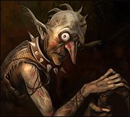 Несчастное угнетенное безвольное существо, которое попало в кабалу к барину, когда злые пауки уничтожили всю его семью и захватили дом.  Он живет в будке и выполняет все прихоти барина.