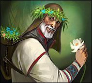 Страстный коллекционер, собиратель гербариев и травник с большой буквы, он знает названия и способы применения практически всех трав и цветов.