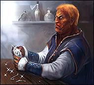 Известный во всем мире ювелир и гравер, он обучит вас мастерству наложения зачарованных рун для усиления боевого оружия и вещей.