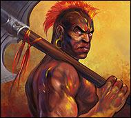 Караульный Северного магмарского аванпоста на острове Фей-Го. Он всегда на посту, внимательный и зоркий, охраняет территорию от посягательств слуг Хаоса.