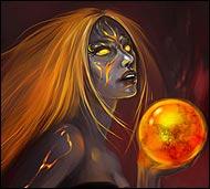 Рыжеволосая волшебница и пророк, она не раз помогала воинам армии магмаров избежать вражеских набегов.