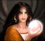 Прекрасная чародейка и ясновидящая, она многим указала судьбу, отвела беду, наделила мужеством, удачей и счастьем любить.