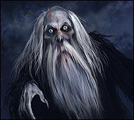 Страшный оборотень-колдун, который бродит ночами, выискивая жертву, приносит беды, болезни и даже смерть.